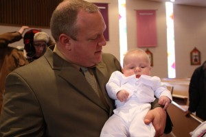 Erik and the newest Catholic, Easton