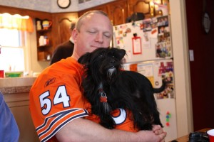 Another friend, Erik and his dog Rudy